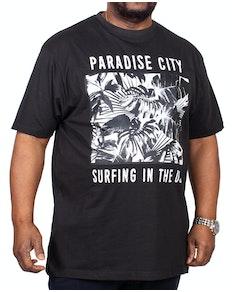 KAM Paradise Printed T-Shirt Black