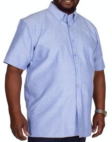 KAM Short Sleeve Oxford Shirt Denim
