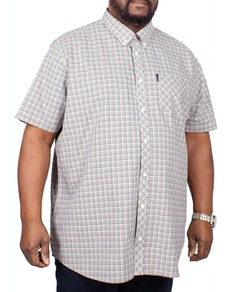 Ben Sherman Mini Gingham Short Sleeve Shirt Tan