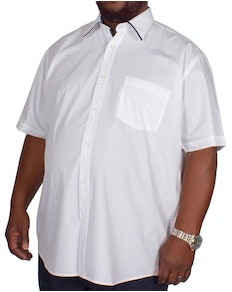 Cotton Valley Tipped Short Sleeve Shirt White