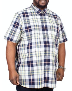 Ben Sherman Large Scale Check Short Sleeve Shirt Yellow