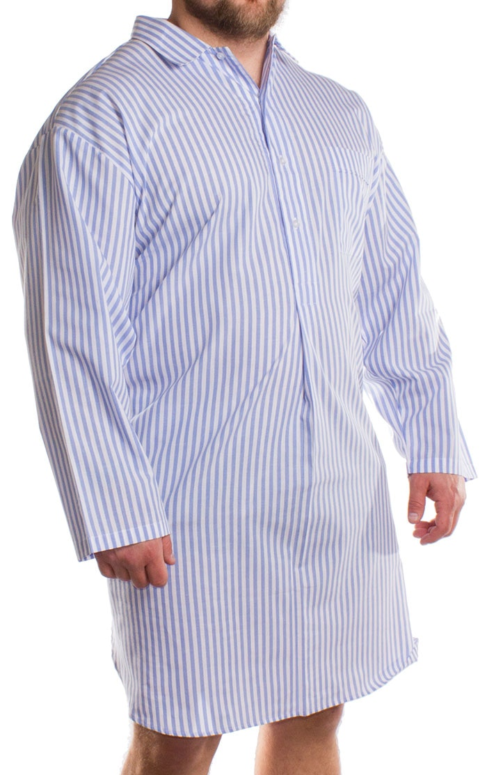 Kings Club Long Sleeve Knee Length Nightshirt