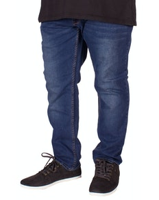 D555 Guy Stretch Tapered Blue Jeans