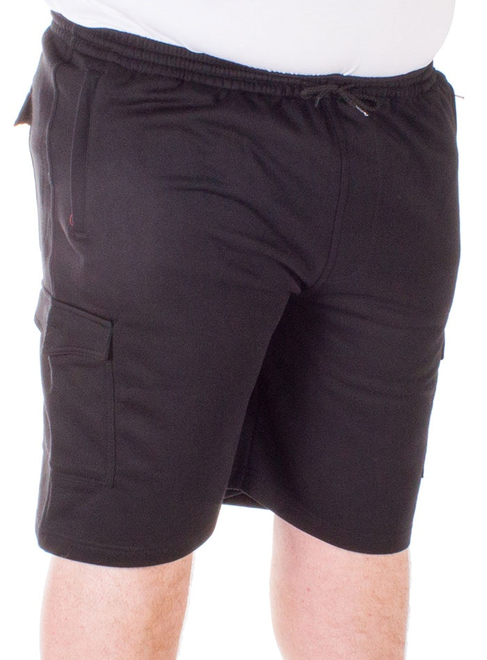 Espionage Jersey Cargo Shorts Black
