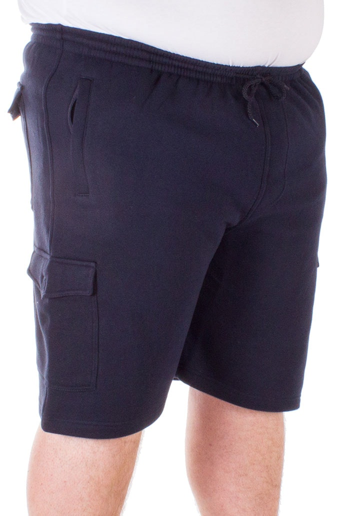 Espionage Jersey Cargo Shorts Navy