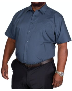 Bigdude Classic Short Sleeve Poplin Shirt Petrol