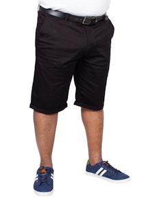 Bigdude Stretch Chino Shorts Black