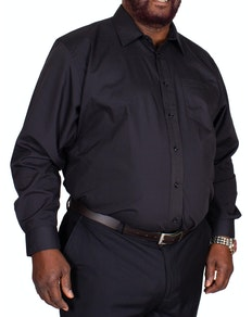 Bigdude Classic Long Sleeve Poplin Shirt Black Tall