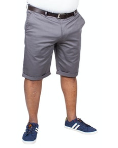 Bigdude Stretch Chino Shorts Grey