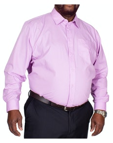 Bigdude Classic Long Sleeve Poplin Shirt Violet Tall