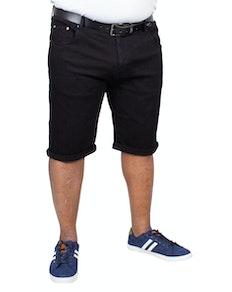Bigdude Stretch Denim Shorts Black
