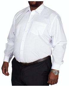 Bigdude Classic Long Sleeve Poplin Shirt White