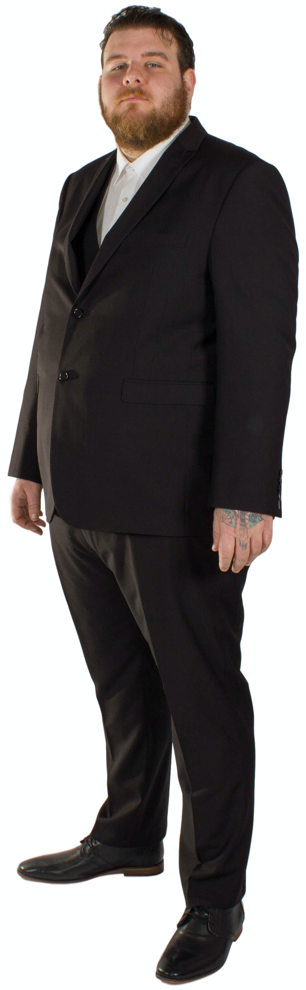 Skopes Madrid Superfine Twill 3 Piece Suit- Black