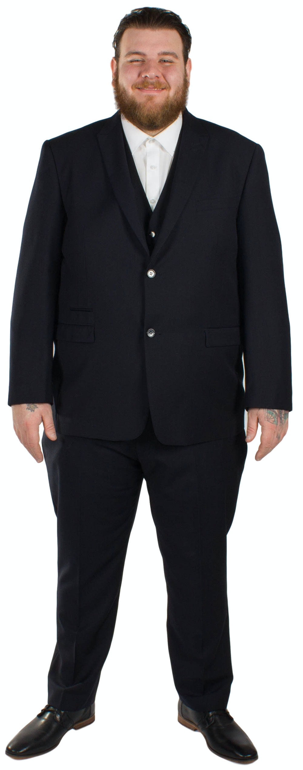 Skopes Madrid Superfine Twill  3 Piece Suit- Navy