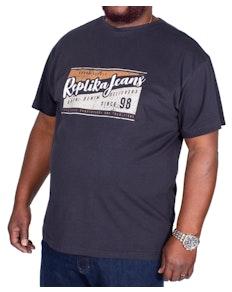 Replika Jeans Printed T-Shirt Black
