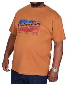 Replika Jeans Printed T-Shirt Brown