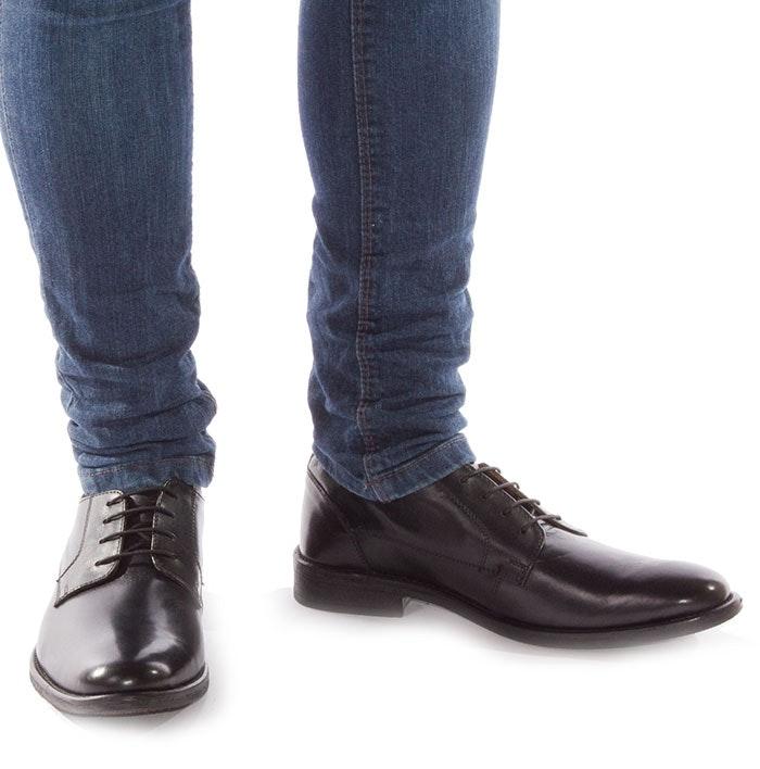 Lambretta Fleet Black Gibson Leather Shoe