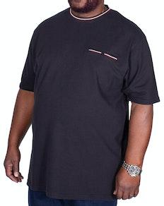 KAM Dobby Waffle Weave T-Shirt Black