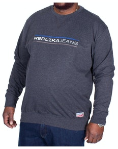 Replika Jeans Crew-neck Sweatshirt Charcoal