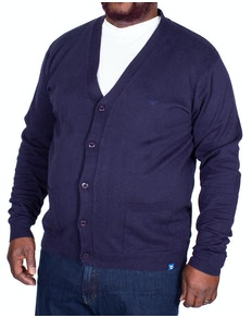 D555 Walworth Buttoned Cardigan Navy