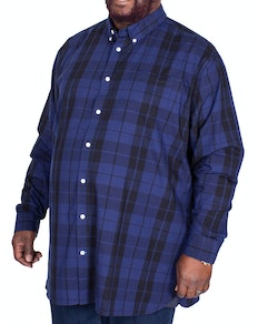 D555 Davenport Check Long Sleeve Shirt Navy