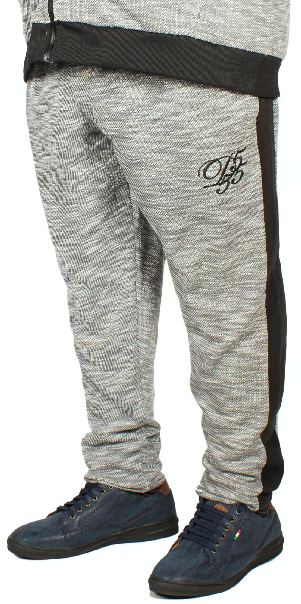 D555 Kent Embroidered Jogger - Grey