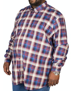 Ben Sherman Ombre Check Shirt Wine