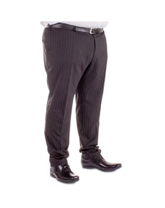 Pin Stripe Trousers Black