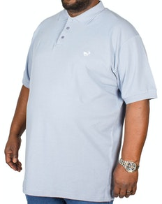 Bigdude Embroidered Polo Shirt Denim