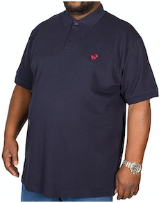 Bigdude Embroidered Polo Shirt Navy