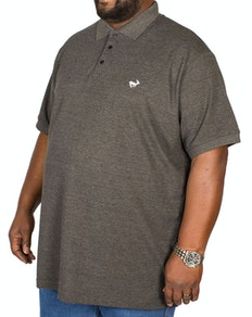 Bigdude Embroidered Polo Shirt Charcoal