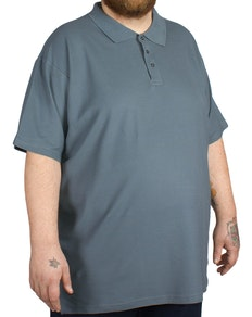 Cotton Valley Plain Polo Shirt Denim