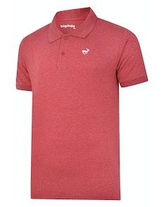 Bigdude Jersey Marl Polo Shirt Burgundy