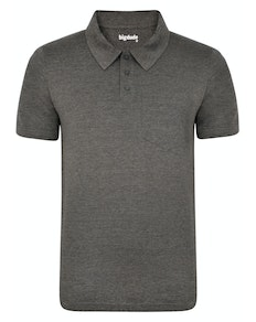 Bigdude Jersey Polo Shirt With Pocket Charcoal