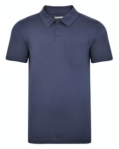 Bigdude Jersey Polo Shirt With Pocket Navy Tall