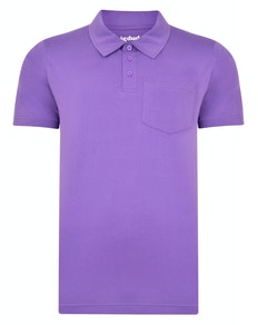 Bigdude Jersey Polo Shirt With Pocket Purple Tall