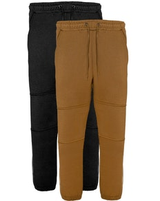Bigdude Military Panel Joggers Twin Pack Black/ Khaki