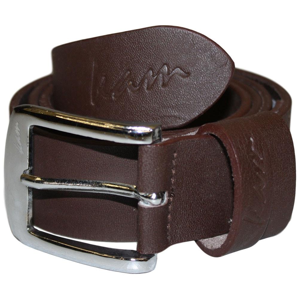 KAM Plain Leather Jeans Belt Brown