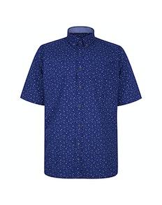 KAM Premium Dobby Print Shirt Blue