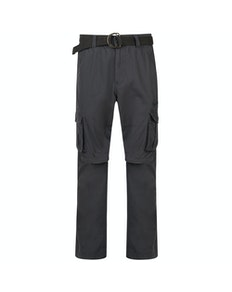KAM Zip Off Cargo Trousers Charcoal