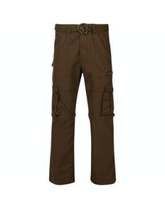 KAM Zip Off Cargo Trousers Khaki