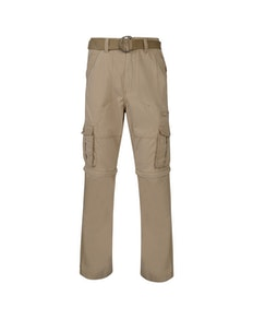 KAM Zip Off Cargo Trousers Stone