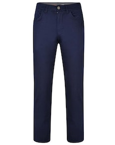 KAM Flexi Waist Chino Pants Navy