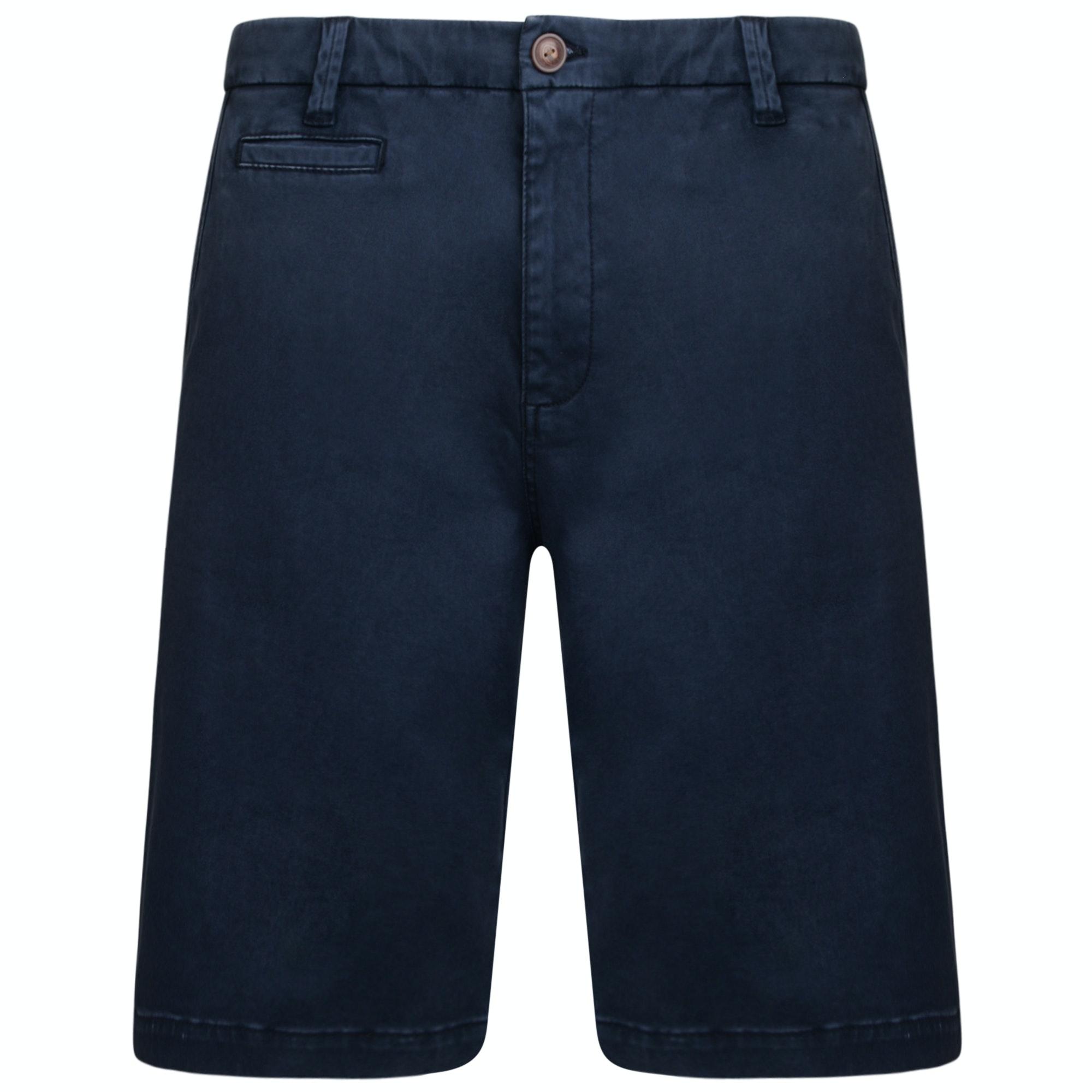 KAM Stretch Chino Shorts Navy