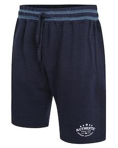 KAM Authentic Print Jog Shorts Navy