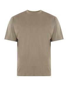 KAM Plain Crew Neck T-Shirt Olive