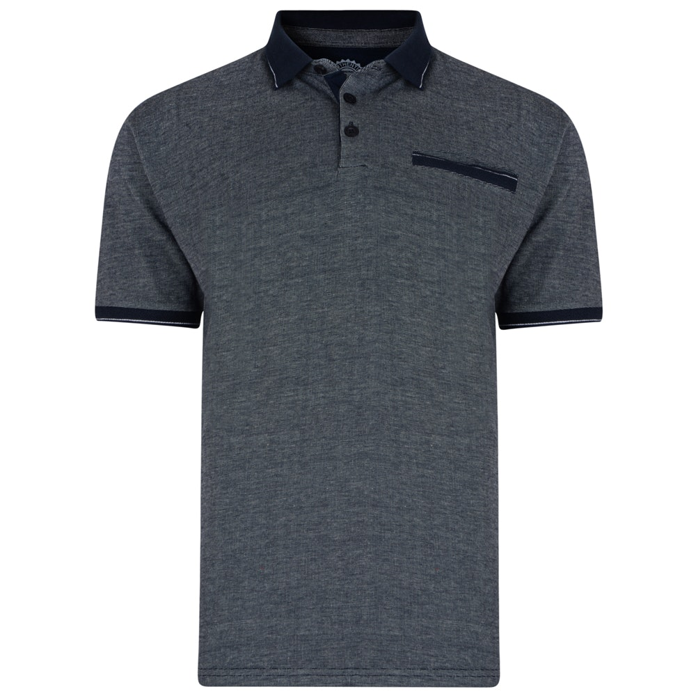 KAM Birdseye Polo Shirt Navy