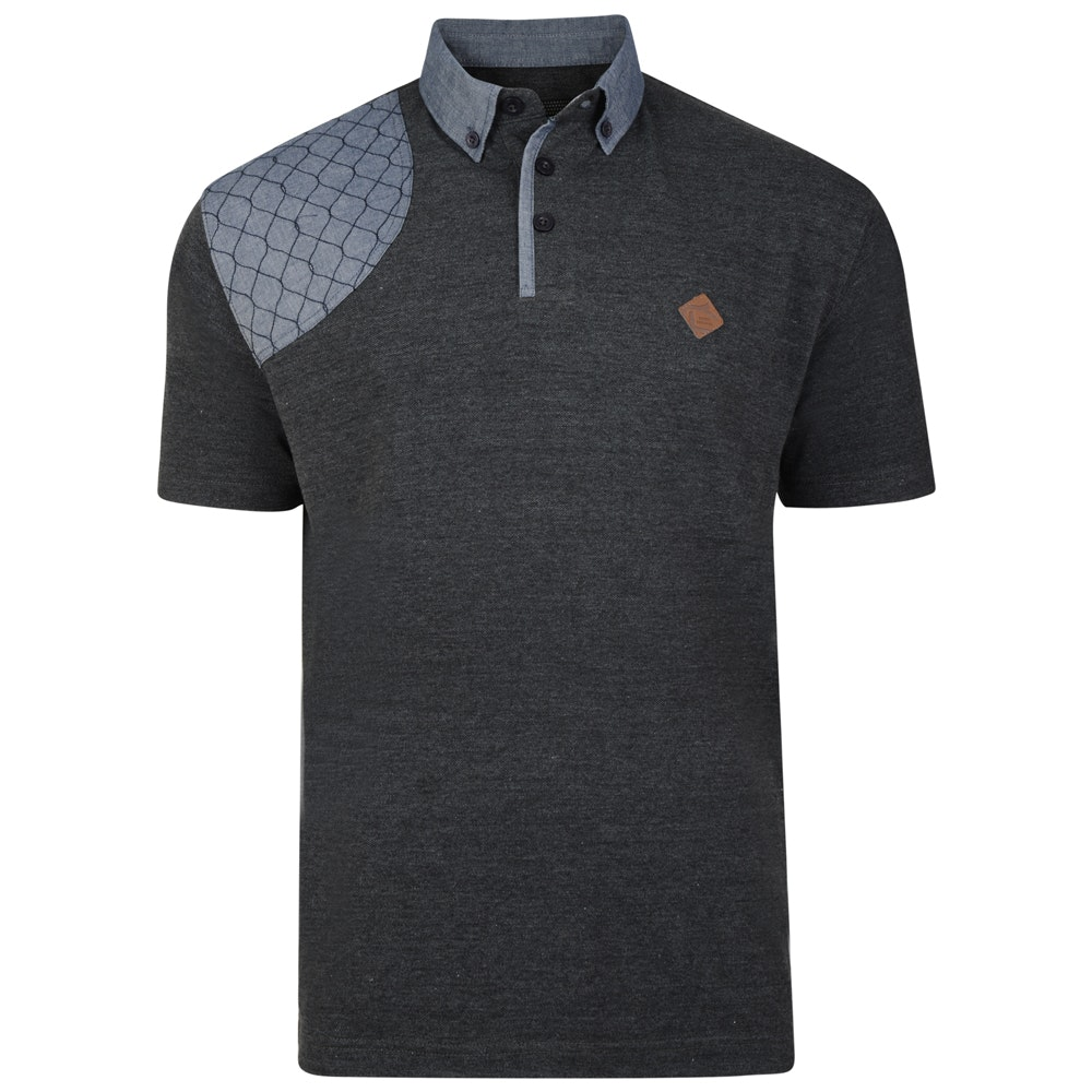 KAM Honeycomb Panel Polo Shirt