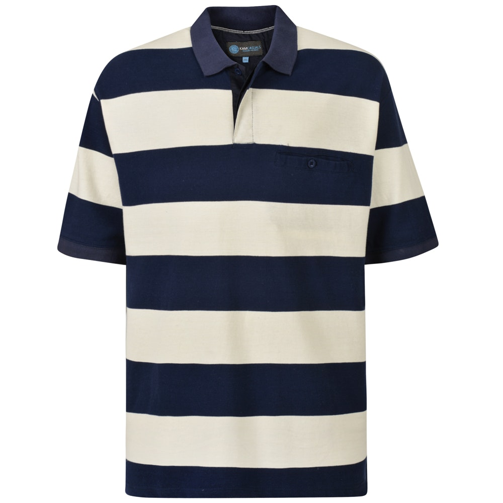 KAM Rugby Pique Polo Navy