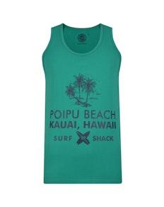 KAM Hawaii Print Vest Shamrock